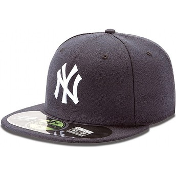 Casquette plate bleue marine ajustée 59FIFTY Authentic On-Field New York Yankees MLB New Era