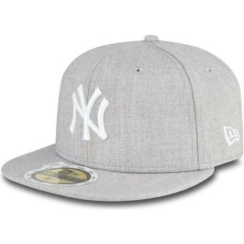 New Era Kinder Flat Brim 59FIFTY Essential New York Yankees MLB Fitted Cap grau