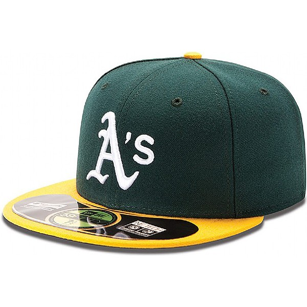 casquette-plate-verte-ajustee-59fifty-authentic-on-field-oakland-athletics-mlb-new-era