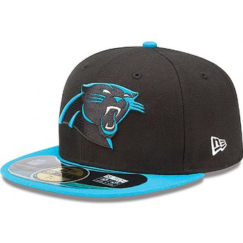 Casquette plate noire ajustée 59FIFTY Authentic On-Field Game Carolina Panthers NFL New Era