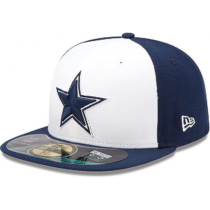 casquette-plate-bleue-ajustee-59fifty-authentic-on-field-game-dallas-cowboys-nfl-new-era