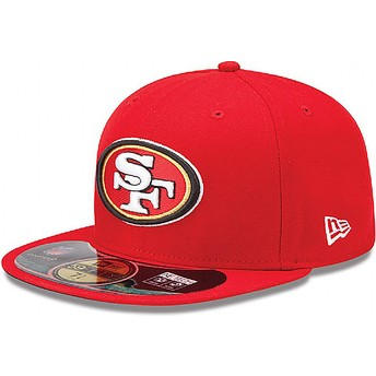 New Era Flat Brim 59FIFTY Authentic On-Field Game San Francisco 49ers NFL Fitted Cap rot
