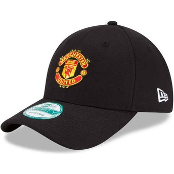 Casquette courbée noire ajustable 9FORTY Essential Manchester United Football Club New Era