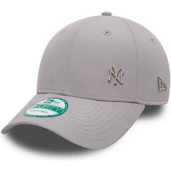 New Era Curved Brim 9FORTY Flawless Logo New York Yankees MLB Adjustable Cap grau
