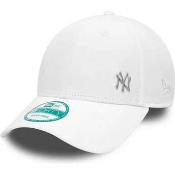Casquette courbée blanche ajustable 9FORTY Flawless Logo New York Yankees MLB New Era