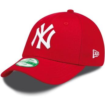 New Era Kinder Curved Brim 9FORTY Essential New York Yankees MLB Adjustable Cap rot