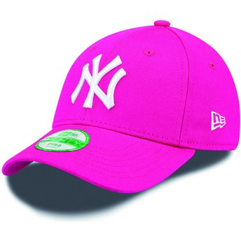 Casquette courbée rose ajustable pour enfant 9FORTY Essential New York Yankees MLB New Era